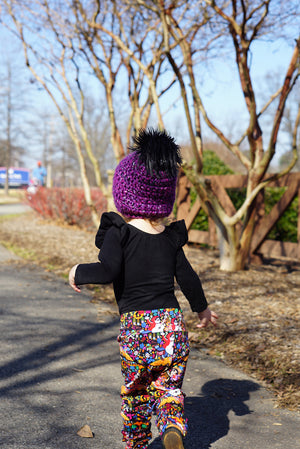 Plum Pretty Faux Fur Pom Hat