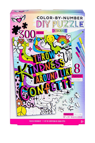 Throw Kindness Around Like Confetti DIY Color-by-Number Puzzle