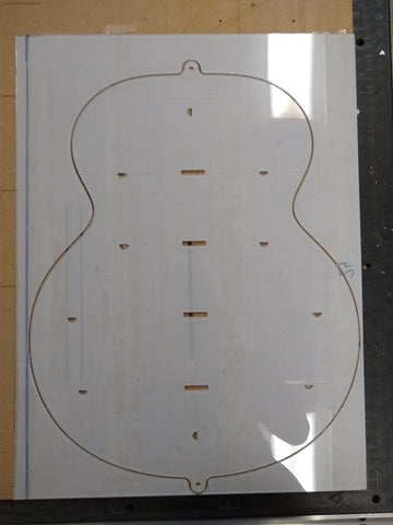 CNC: Acoustic Body Profile Templates + Body Profile Mold Routing Template Package