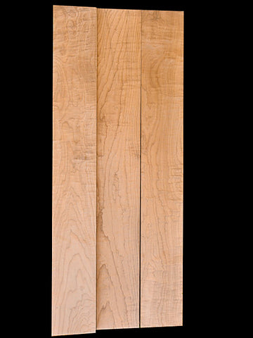 "Tempered Maple Neck Blank – Guitar – Flame 4A- 1""thick"