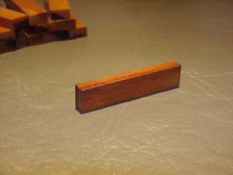 Amber Red Brown Bone Nut Blank