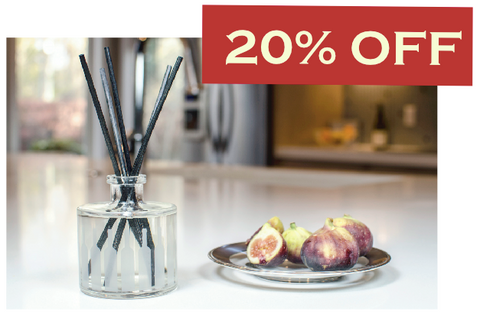 20% off Tuscan Fig scent