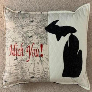"""MICH YOU"" PILLOW"