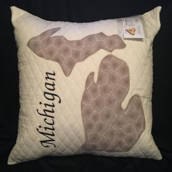 MICHIGAN PETOSKEY STONE PILLOW