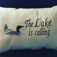 """THE LAKE IS CALLING"" PILLOW"