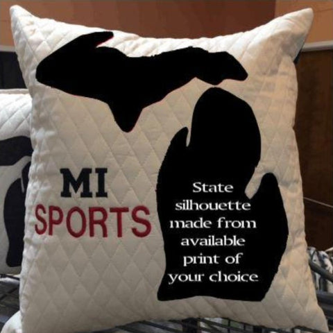 MICHIGAN SPORT PRINT PILLOW