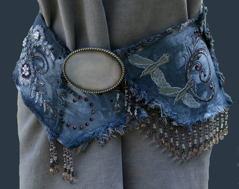 Spirit of the Raven Denim Belt