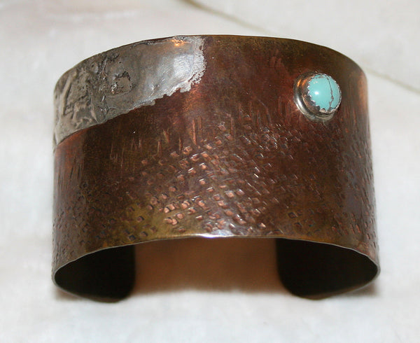 Bronze with Turquoise Cuff