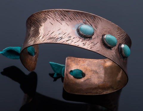 Three Stone Bronze Cuff
