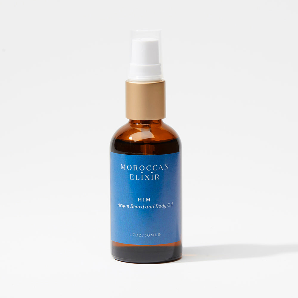 Men's body and beard oil -Argan Oil - Moroccan Elixir