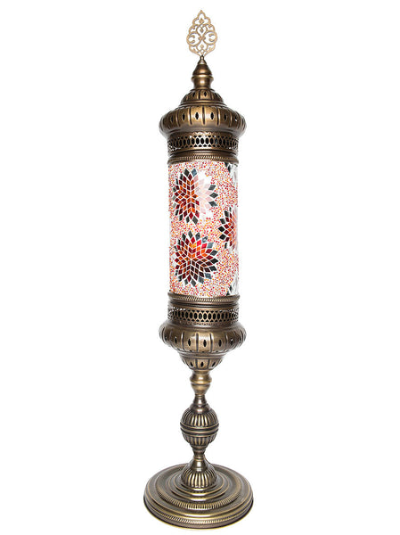 Mosaic Cylinder Floor Lamp, Red/Orange
