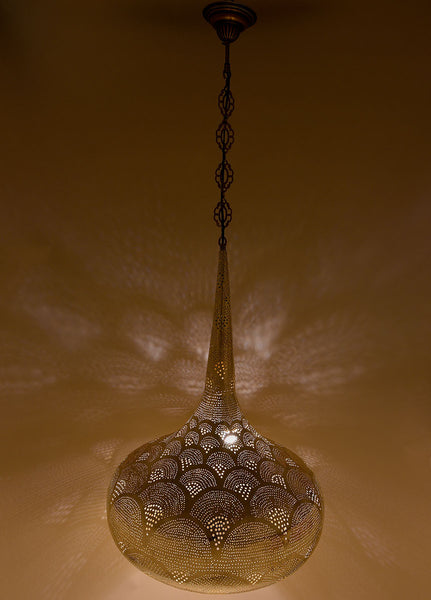 Metal Hanging Lamp, Teardrop