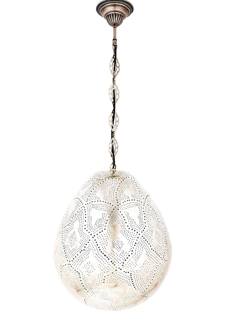 Metal Hanging Lamp, Oval