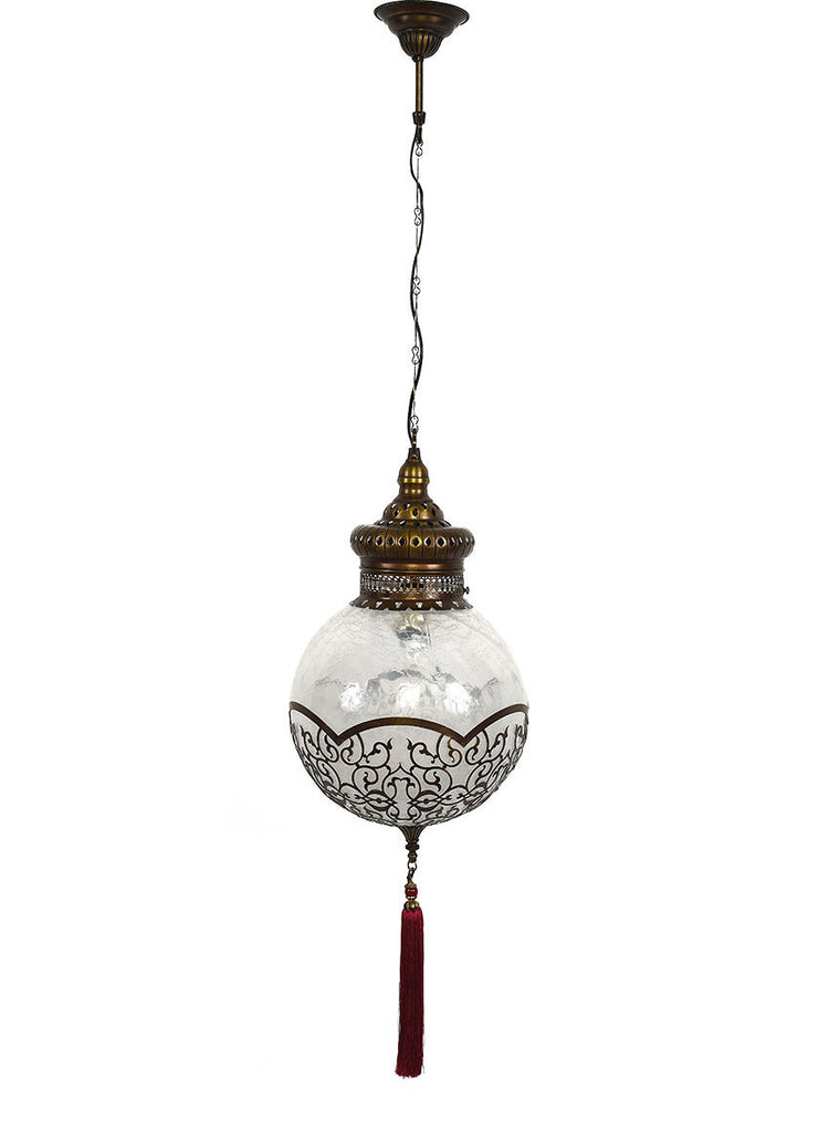 Frosted Glass Globe with Tassel