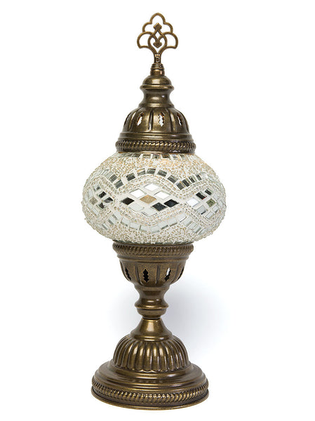 Mosaic Table Lamp, Small White ...