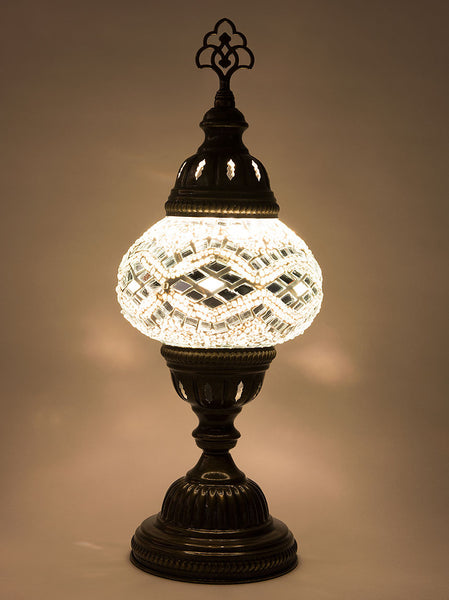 Mosaic Table Lamp, Small White