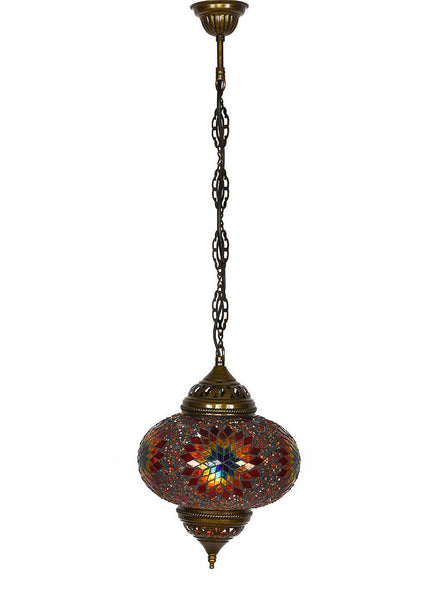 Mosaic Pedant Hanging Lamp -  Dark Red