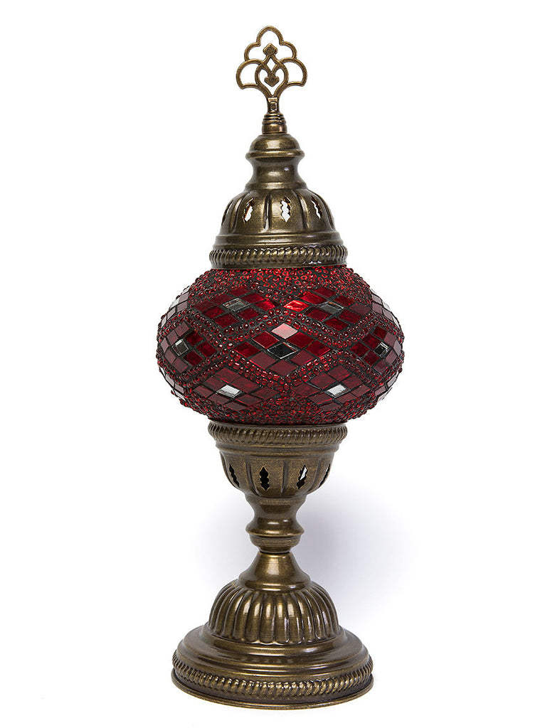 Mosaic Table Lamp, Small Red