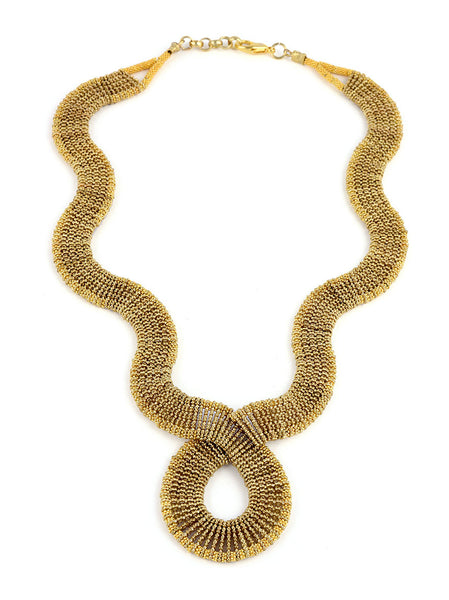 Gold Metal Beaded Necklace