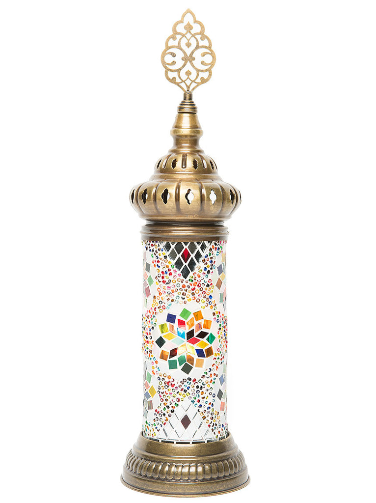Mosaic Cylinder Table Lamp, Multi Colored ...
