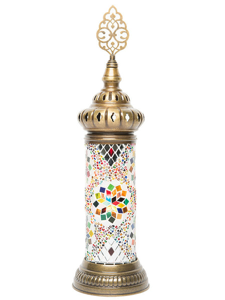 Mosaic Cylinder Table Lamp, Multi-Colored