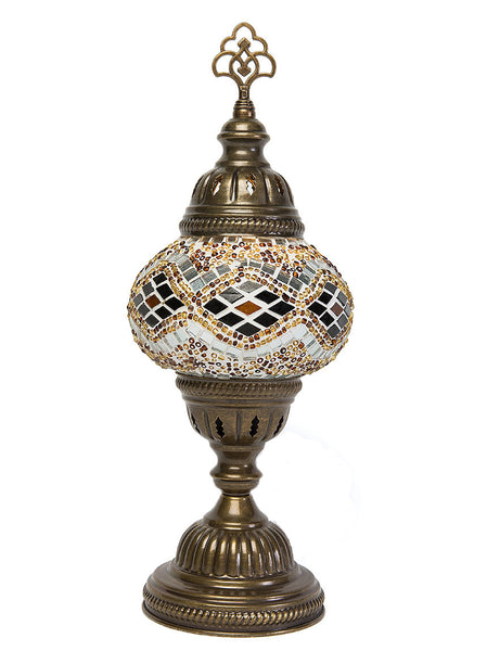 Mosaic Table Lamp, Small Gold