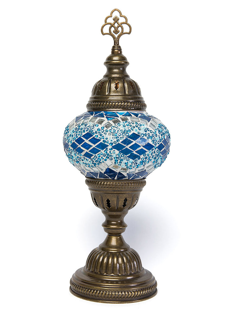 Mosaic Table Lamp, Small Teal