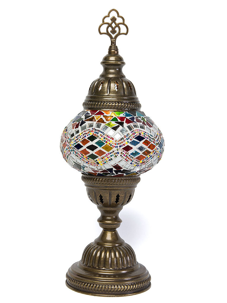 Mosaic Table Lamp Small Multi Colored Lolo Rugs And Gifts