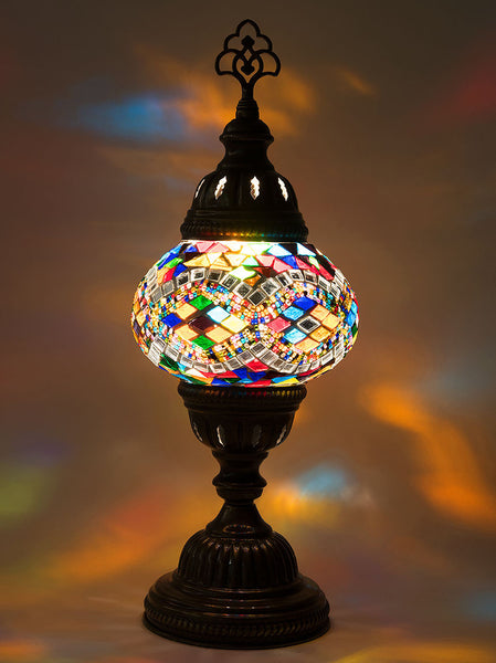 Table lamps lolo rugs and gifts mosaic table lamp small multi colored aloadofball Gallery