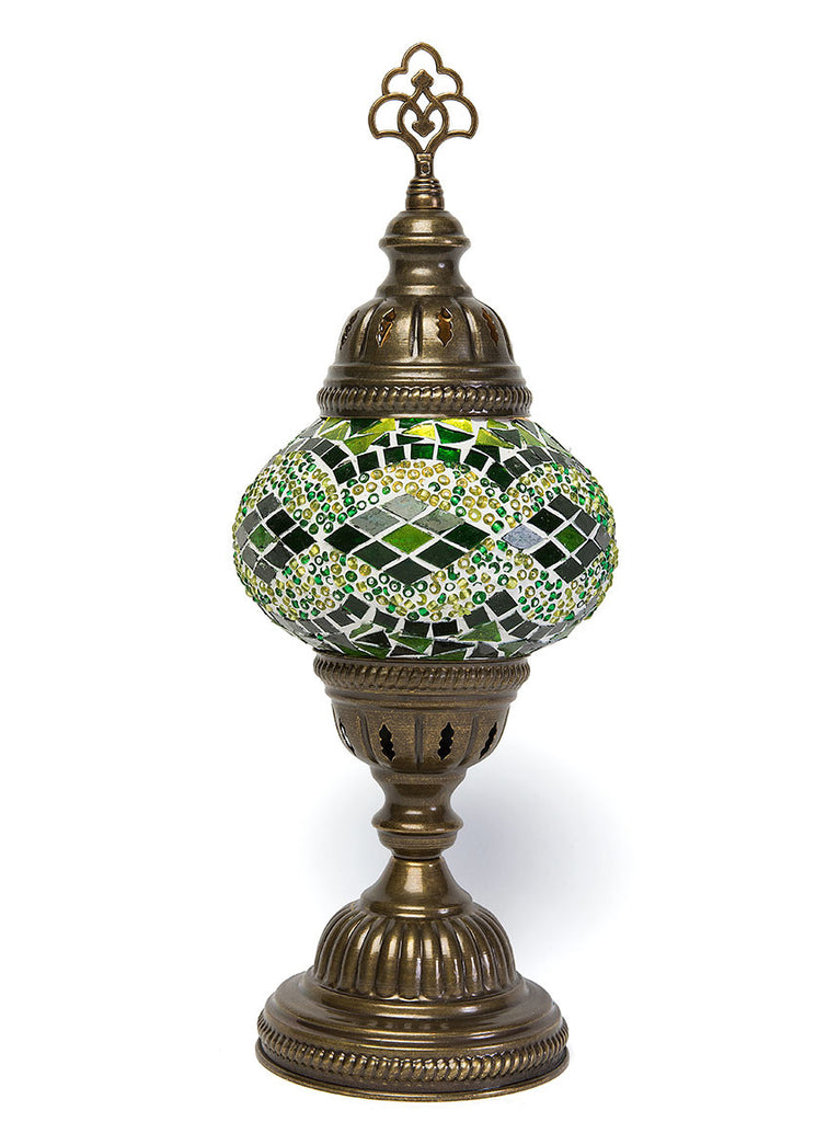 Mosaic Table Lamp, Small Green