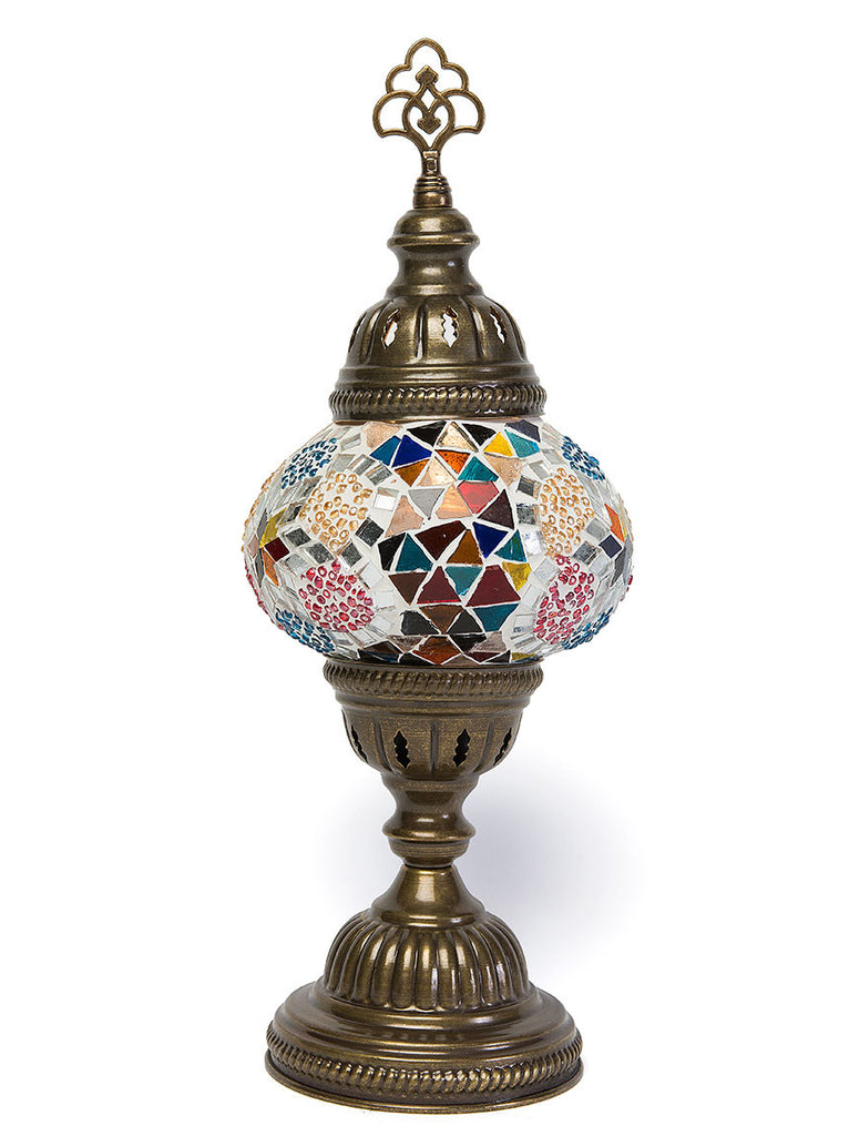 Mosaic Table Lamp, Small Multi-Colored