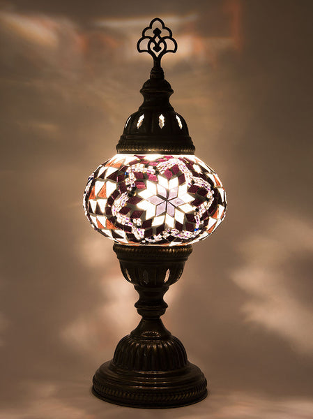 Mosaic Table Lamp, Small Purple