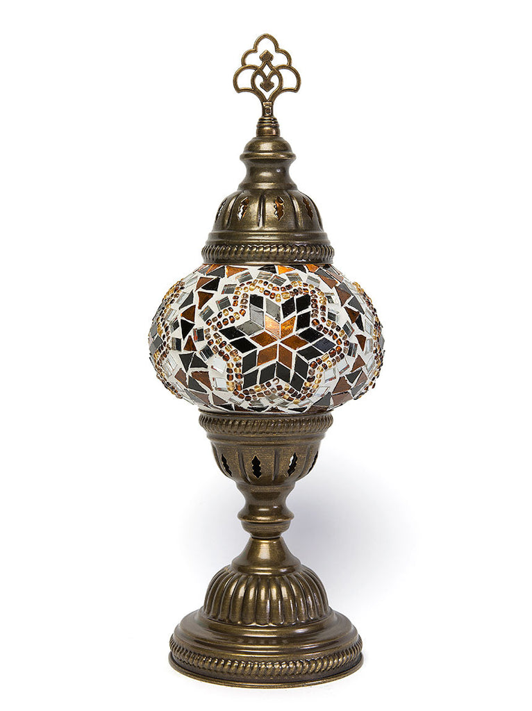 Mosaic Table Lamp, Small Gold Star