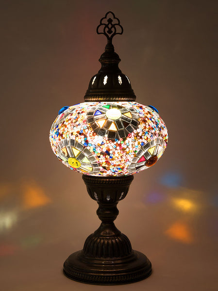 Mosaic Table Lamp, Multi-Colored