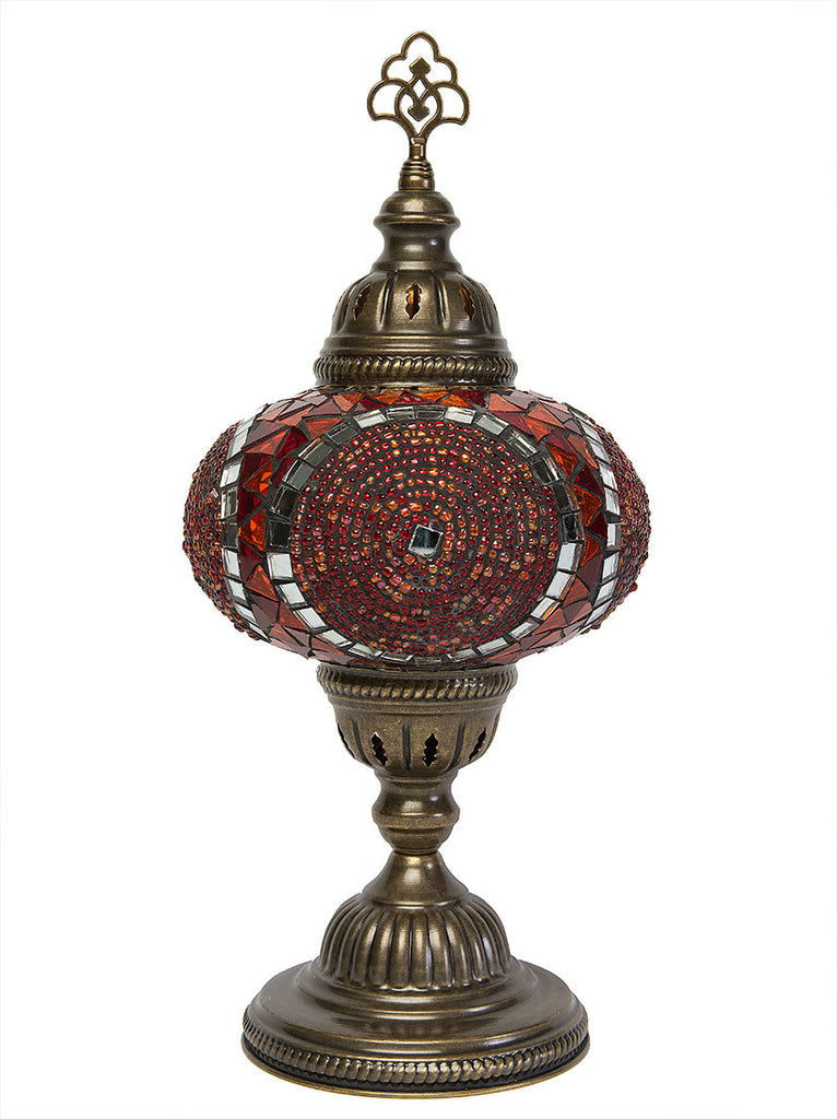 Mosaic Table Lamp Large Red Lolo Rugs And Gifts
