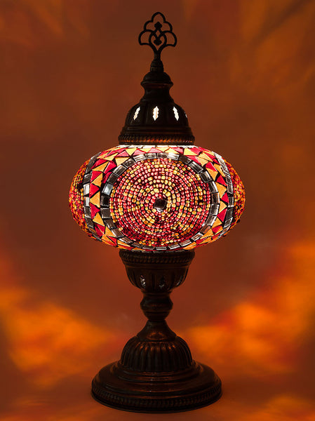 Mosaic Table Lamp, Large Red