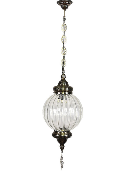 Clear Glass Hanging Globe 9
