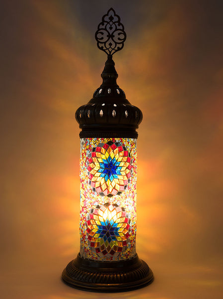 Mosaic Cylinder Table Lamp Multi-Colored