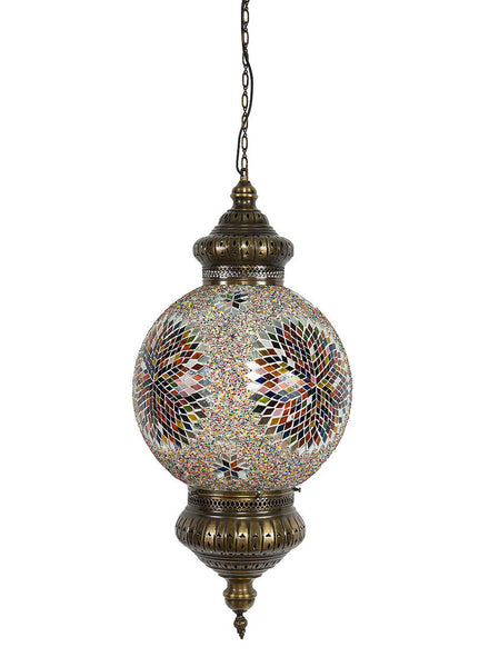 Hanging Mosaic Globe - Multi-Colored