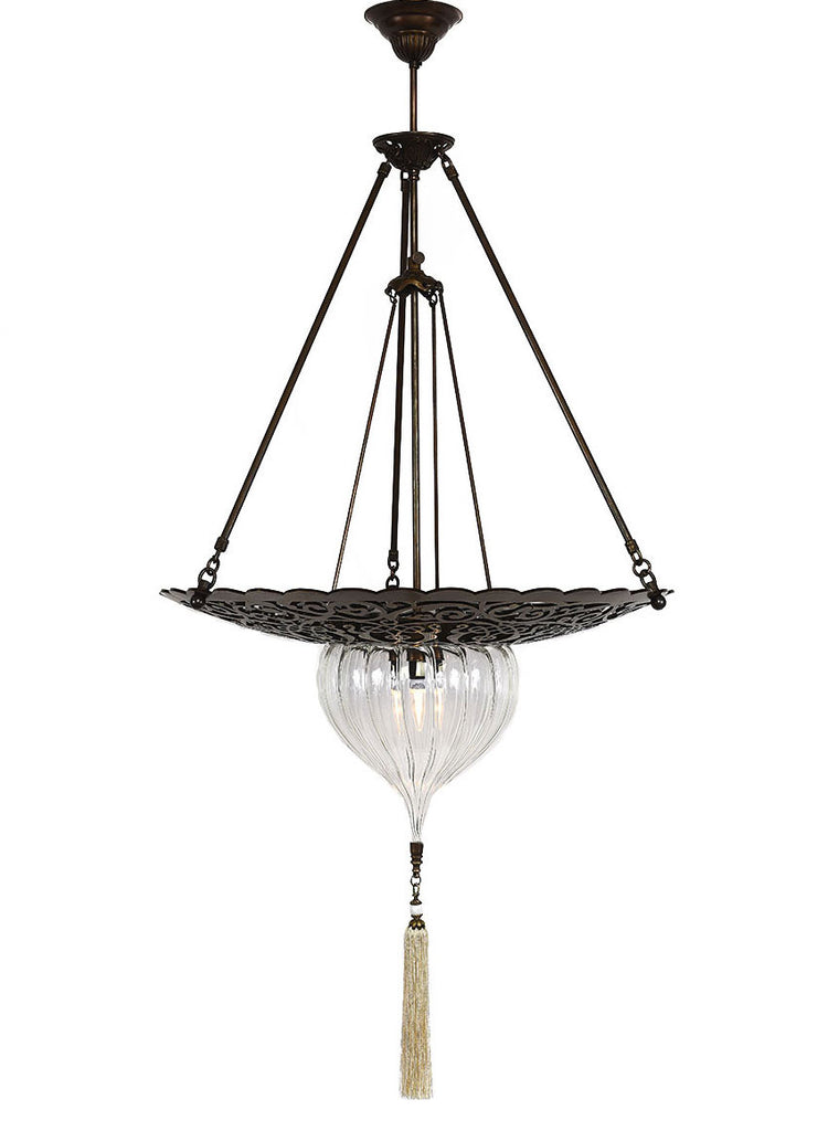 Clear Glass with Decorative Base & Tassel