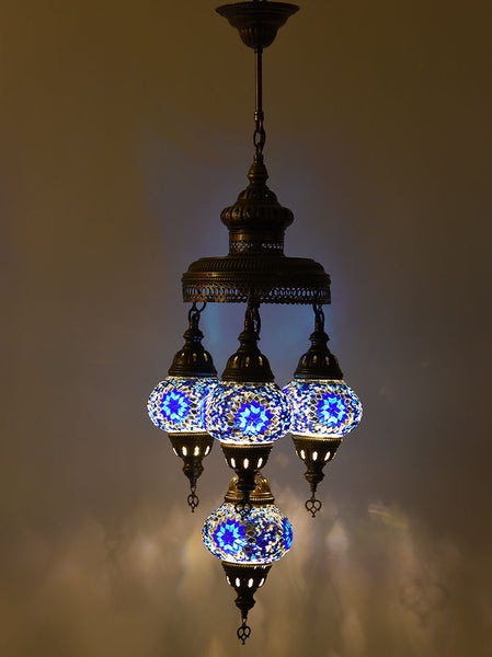 Mosaic Chandelier, 4 Lamps