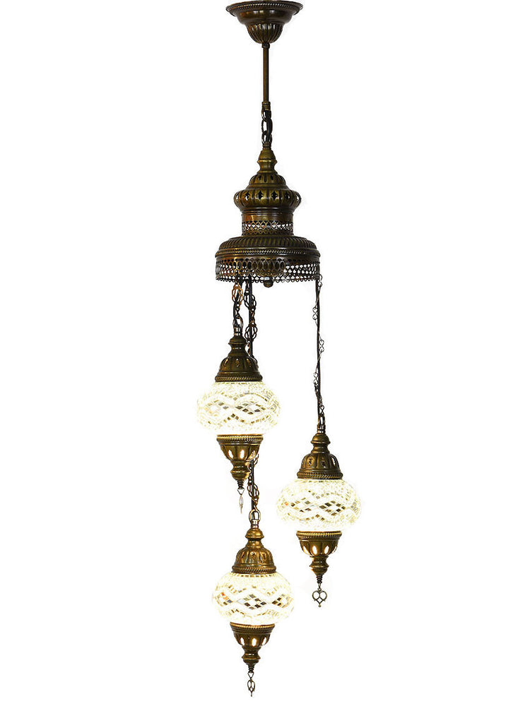 Mosaic Staircase Chandelier, 3 Lamps