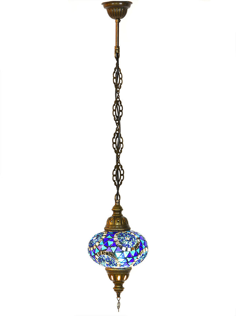 Mosaic Pedant Hanging Lamp -  Dark Blue