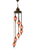 Mosaic Staircase Chandelier, 7 Lamps