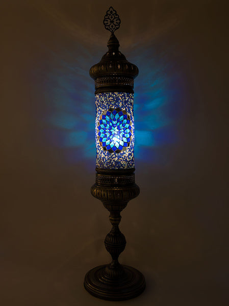 Mosaic Cylinder Floor Lamp Blue