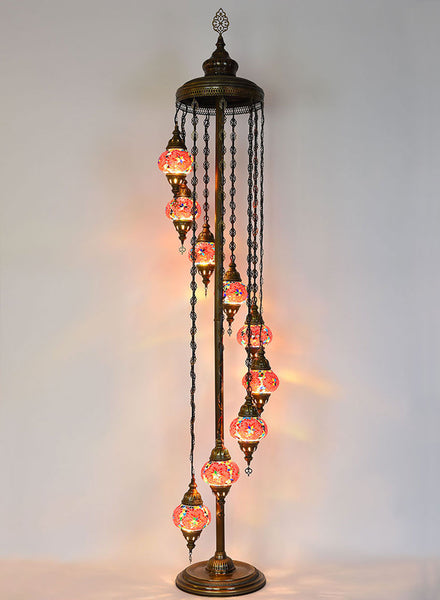 Mosaic Staircase Floor Lamp, 9 Lamps