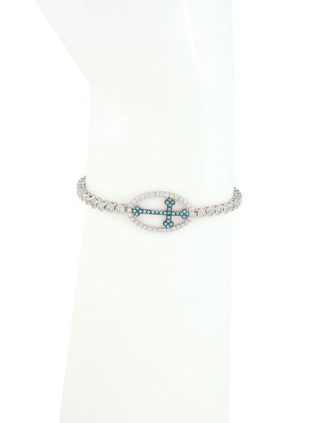 Adjustable Bracelet, Cross Charm