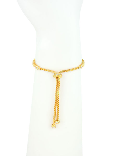 Adjustable Bracelet, Gold Plated