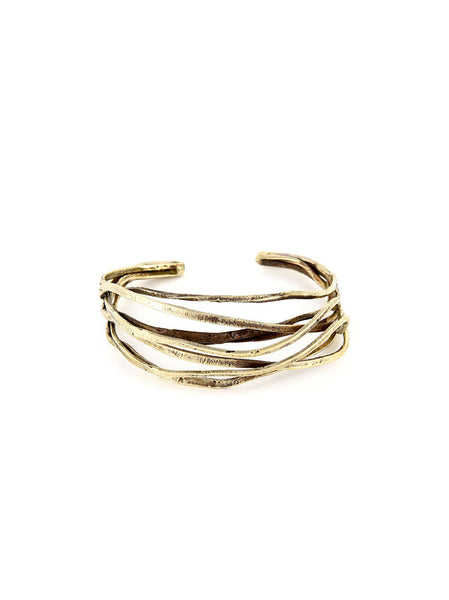 Silver Metal Twisted Bracelet