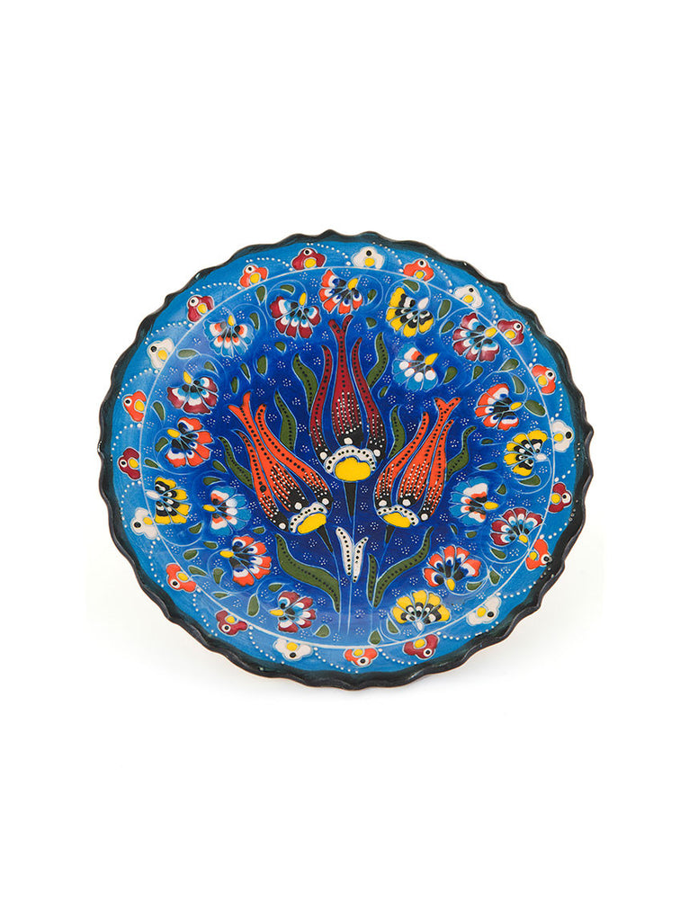 "Decorative Plate 7"" Blue"